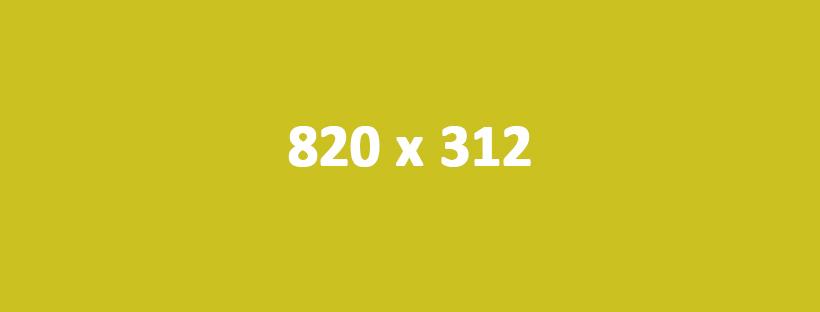Wymiary grafik na Facebooku - 820 x 312