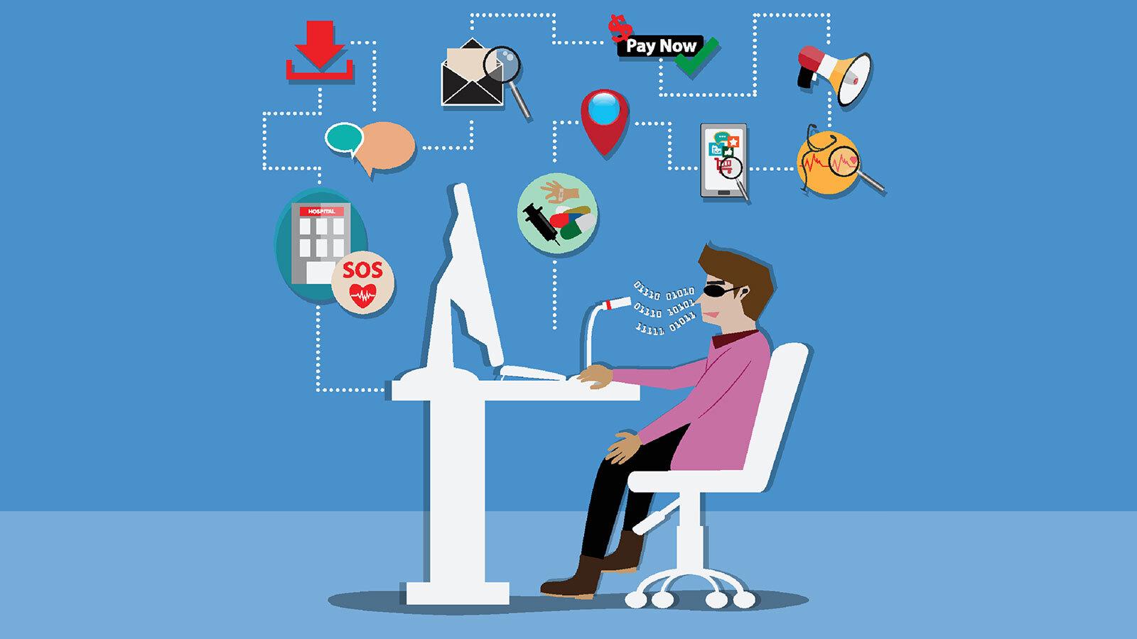 Strona internetowa urzędu - rysunek