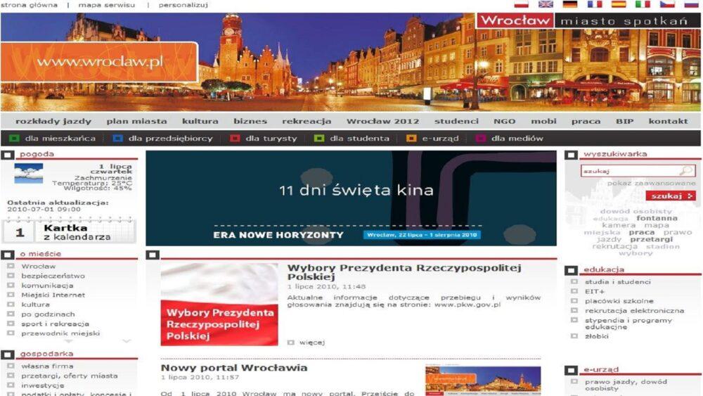 Strona internetowa Urzędu Miasta Wrocławia